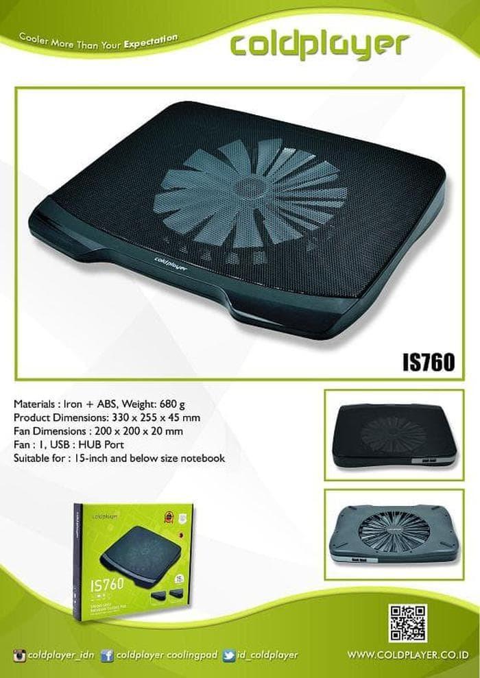 Cooling Pad Coldplayer Is-760/COOLER PAD/COOLER FAN/COO Berkualitas