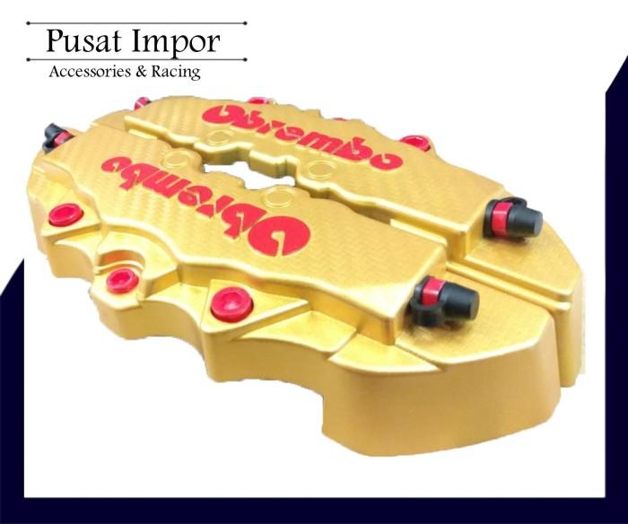 Cover Rem Racing M Gold Carbon - Brem bo Karbon Medium - Disk Sedang