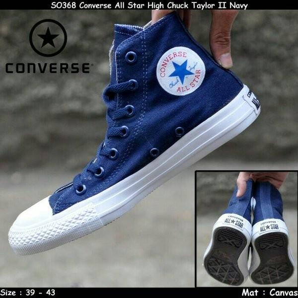 Jual Termurah Sepatu Converse All Star Grade Ori Biru Dongker Navy ... 3de10d9477