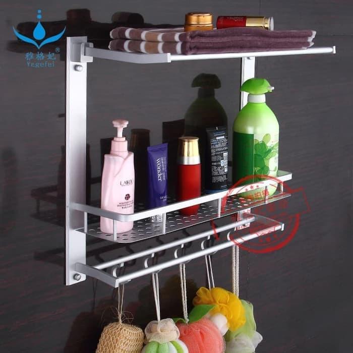 Foto Produk Rak Dinding Serbaguna Rak Handuk Aluminium 3susun dari stevenyenshop