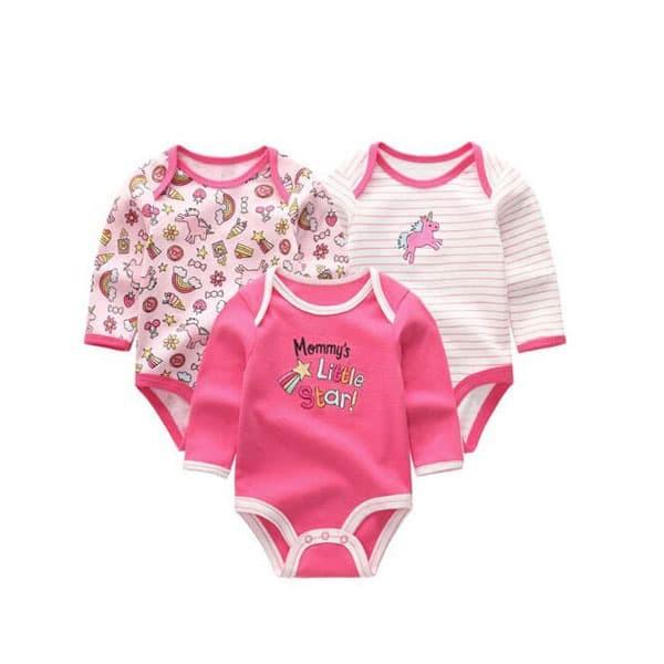 BG1850 - 3 Pcs Baju Jumper Lengan Panjang Bayi Cewek Perempuan Nuby