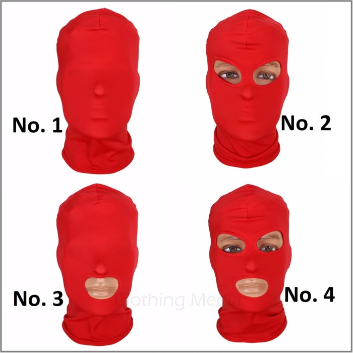 harga Hood spandex topeng warna fetish mask blindfold bondage penutup kepala Tokopedia.com