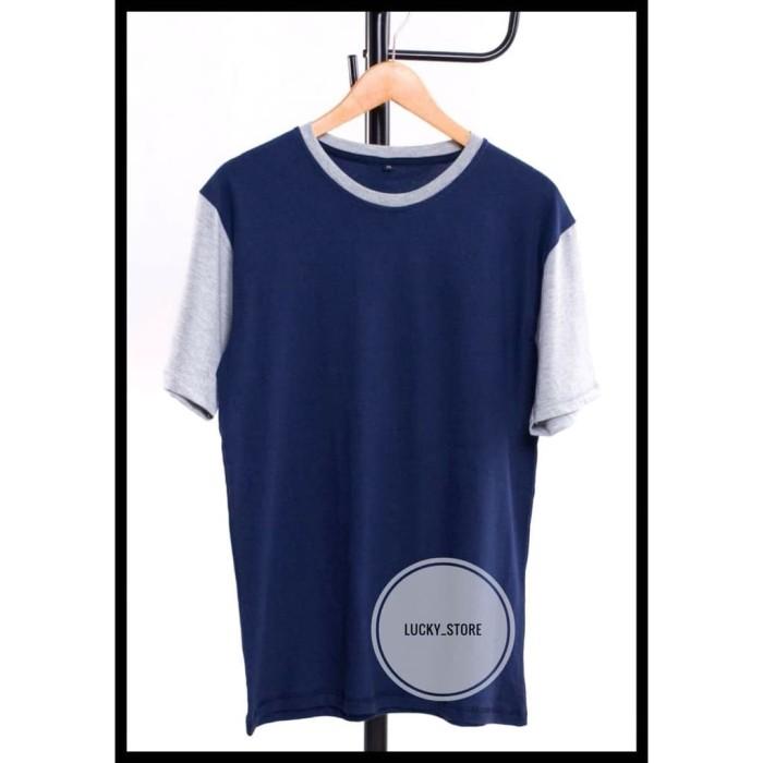 SALE Terbaru Kaos Polos Navy - Grey Misty | Kaos polos Bandung | Kaos