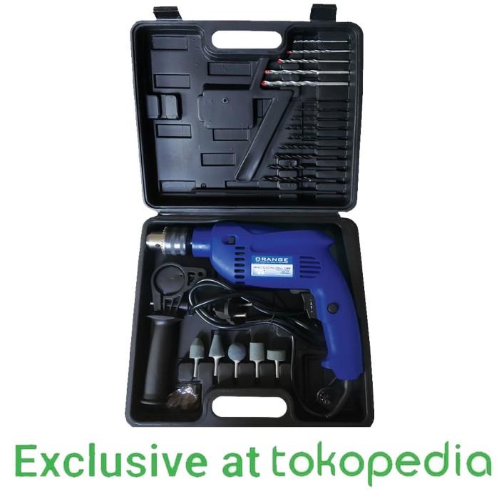 ... harga Orange 6103 mesin bor listrik impact 13 mm tembok beton set koper Tokopedia.com
