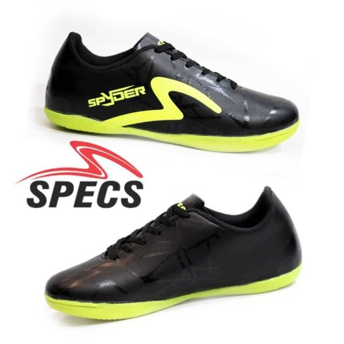 Jual Sepatu Futsal Specs Spyder Hitam List Hijau Grade Ori Premium