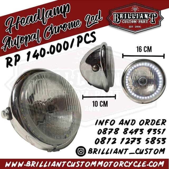 9f543f46 Dijual Headlamp LED Autopal Batok Chrome. Untuk Cb, Japstyle Cafe ...
