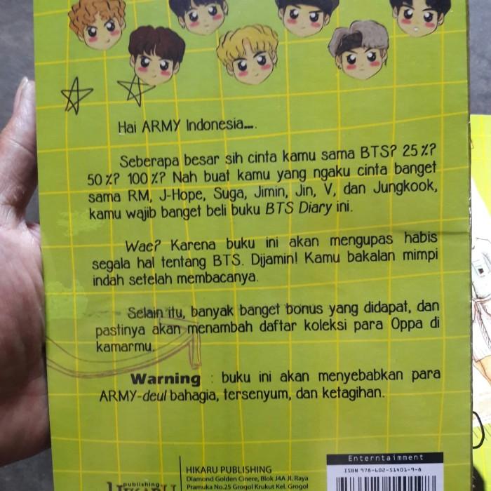 Jual BTS DIARY @BTSINDONESIAARMY - Kota Surakarta - Books_shop | Tokopedia