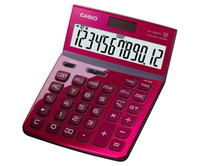 harga Dw-200tw-rd red | office | calculators | casio Tokopedia.com