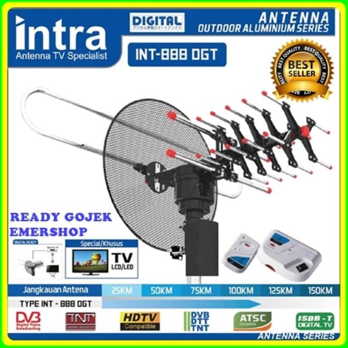 Antena tv digital remote booster (bisa di putar 360 derajat)