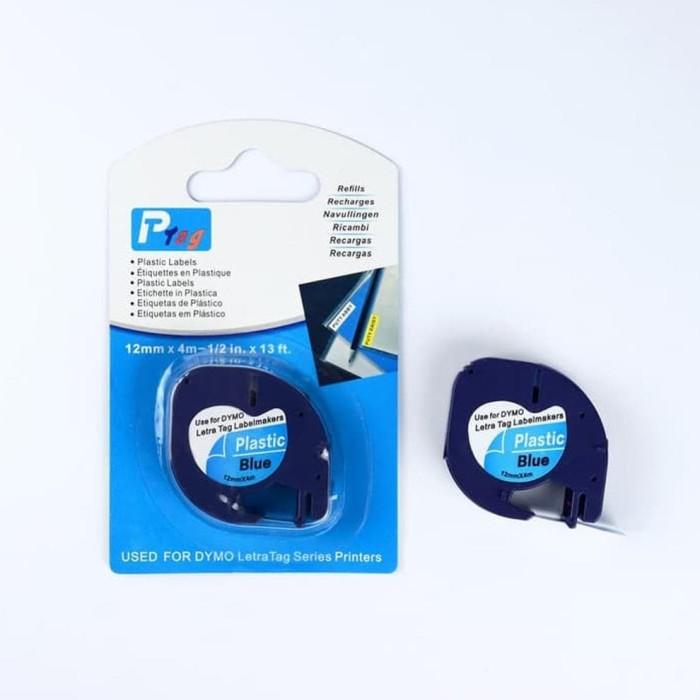 12mm x 4m Letratag Band Kassette Etiketten plastic tape für Dymo LetraTag Gift