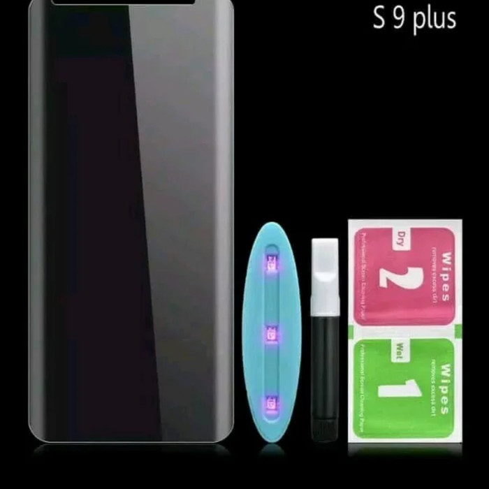 harga Tempered glass uv 3d full glue samsung galaxy s9 plus full lem Tokopedia.com