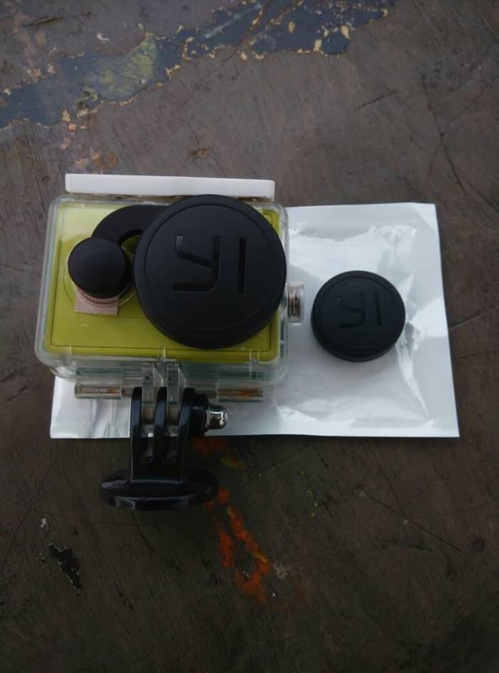 Beli Plastic Lens Cap Cover Tutup Pelindung Waterproof Case Lensa Xiaomi Yi Harga Rp 21.000