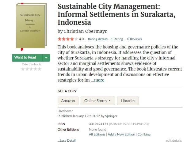 Sustainable City Management: Informal Settlements in Surakarta, Indonesia