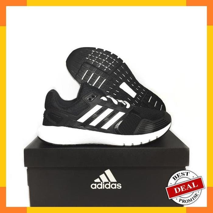 Sepatu Running Lari Adidas Original Duramo 8 M Black White Ba8078 ... 2f533f53c4
