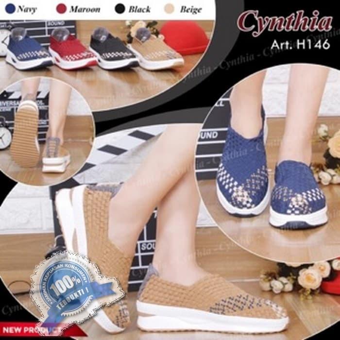 Jual Tikaulia Cynthia H146 Size 36 40 Sepatu Rajut Original Harga Rp 234.800
