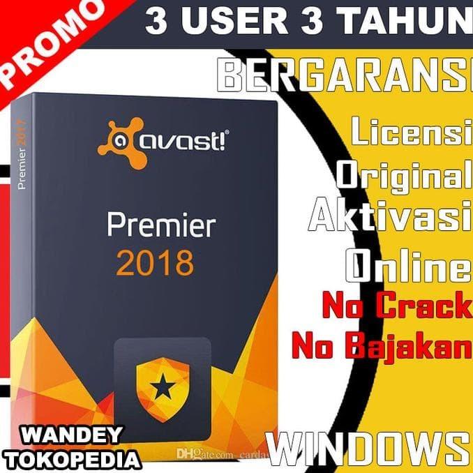 Jual Hot Sale Promo 3tahun Antivirus Avast Premier 3 User Pc Licensi Jakarta Pusat Toko Zulkifli Izul Tokopedia