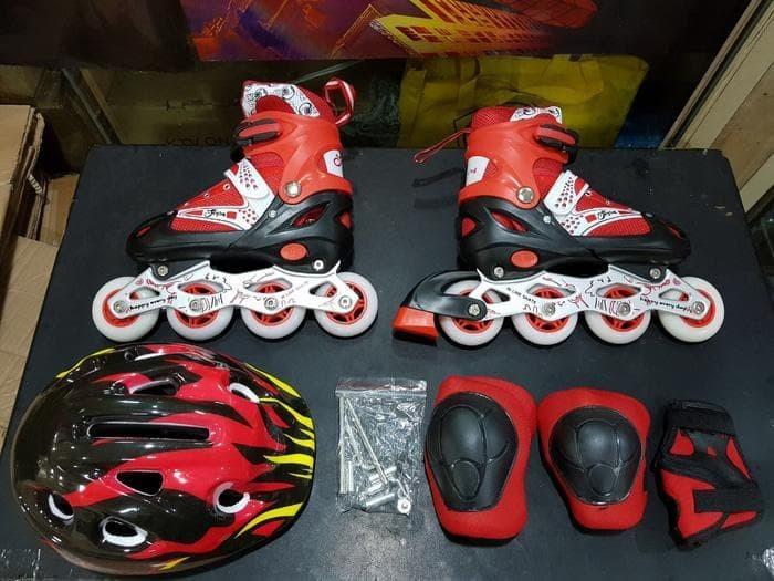 Promo Hot sepatu roda anak fullset (body protecktor +helm)   inline 4109f0d221