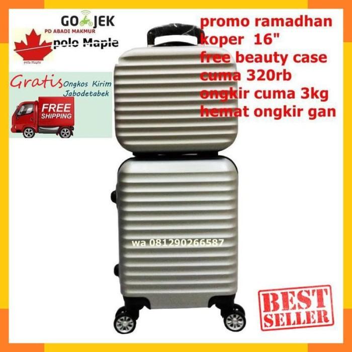 Jual Koper Beautycase Polo Maple B17 Ukuran 12 16 Silver Fiber Abs -