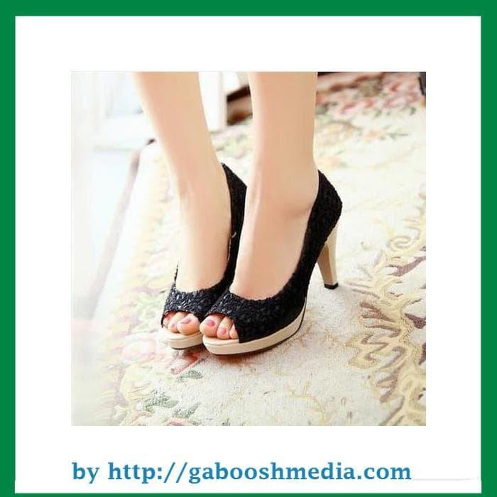 ... baru promo Ezell Shop. Source · Sepatu Kerja Wanita Pantofel Casual Wedges High Heels Hitam Murah PSBN