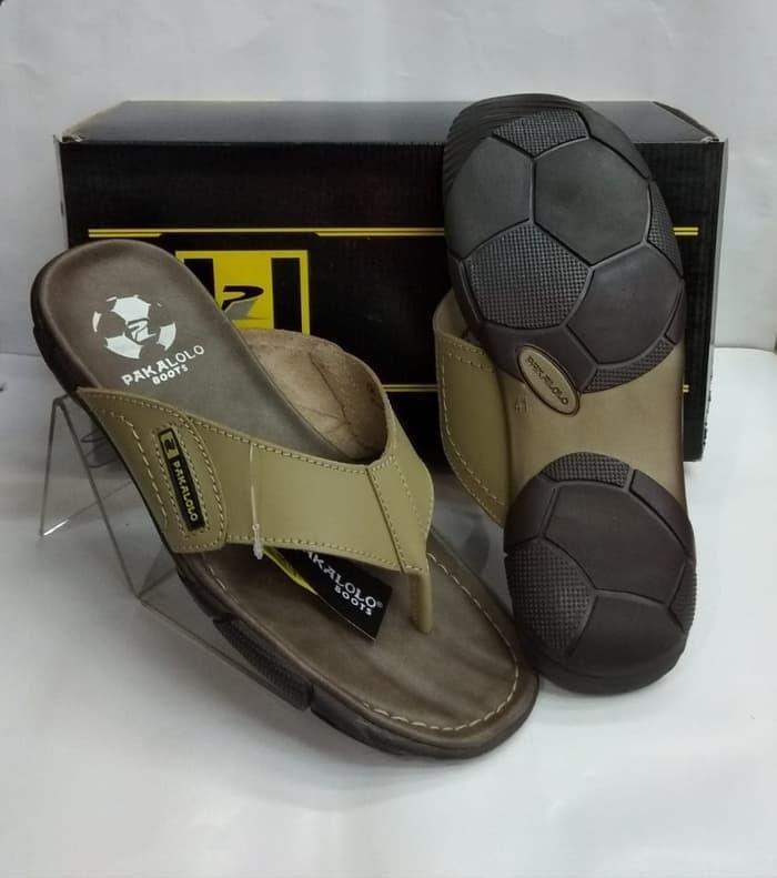 harga Sandal kulit pakalolo boots n2329 krem sendal casual pria original Tokopedia.com