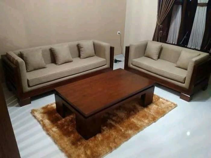 Jual Kursi Tamu Box Sofa Jati Minimalis Busa Meja Jati Kab Jepara