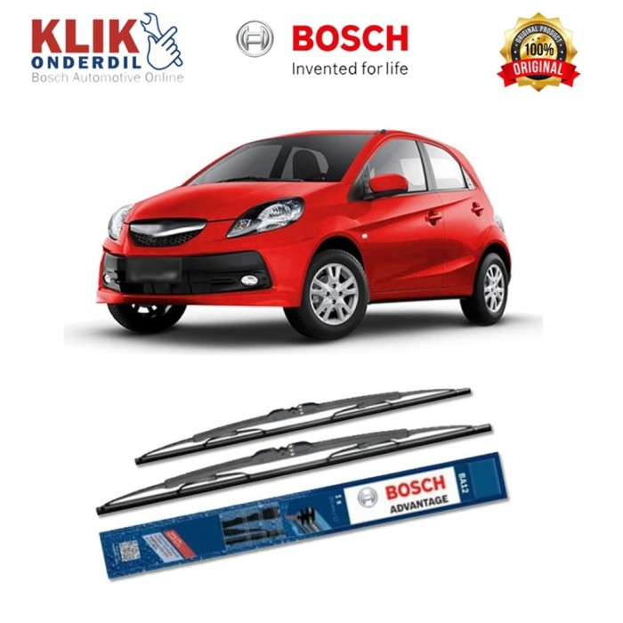 harga Bosch sepasang wiper kaca mobil honda brio advantage 22  & 14  -2 buah Tokopedia.com