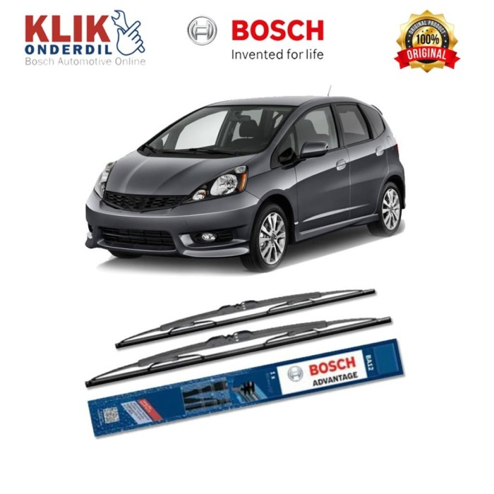 harga Bosch sepasang wiper kaca honda fit gd (2005-2007) advantage 24 & 14 Tokopedia.com