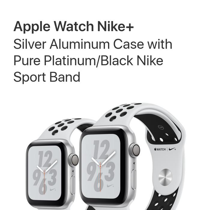 Jual Apple Watch Series 4 Gps Nike+ 40mm White Platinum Black Bnib ... e5cbc68365