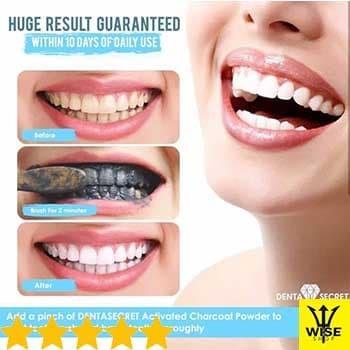 [ORI] Charcoal Teeth Whitening Powder / Pemutih Gigi BONUS SIKAT GIGI