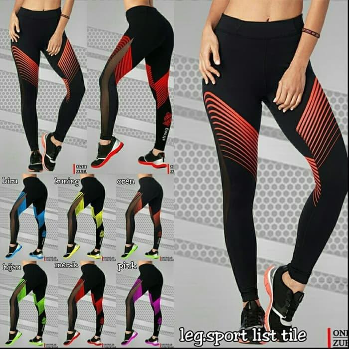 Jual Legging Fitness Legging Zumba Legging Sport List Tile Celana Senam Kota Cirebon Model Baju Senam Tokopedia