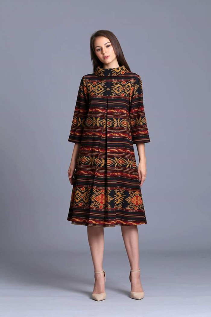 Jual Midi Dress turtleneck tenun ethnic batik modern kain tenun ... aae0faec7e