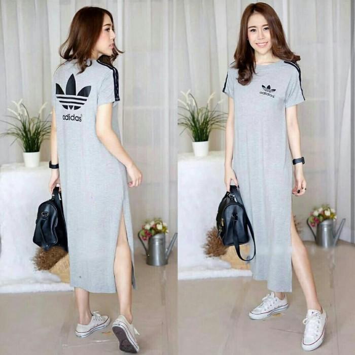 Selatan Raturi Adidas Slit Casual Jual Dress Kaos Korea Long Jakarta CornerTokopedia Bahan Jumbo m8NvnwOPy0