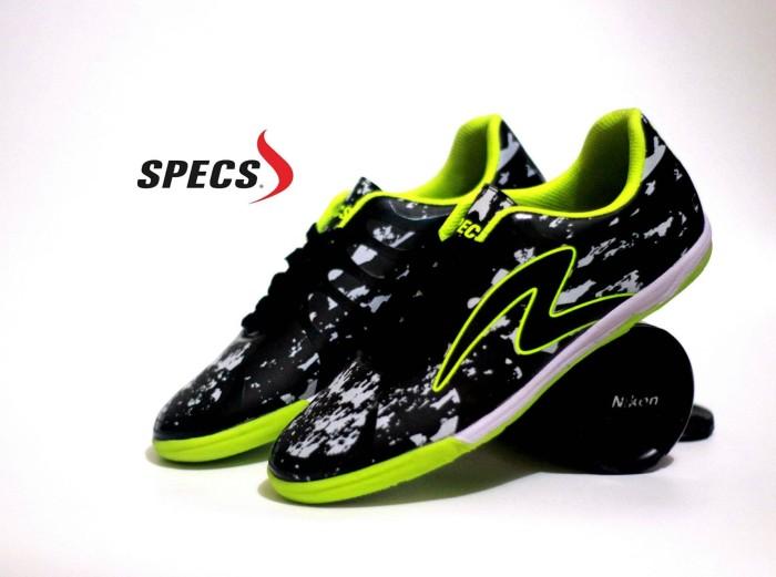 Jual Sepatu Futsal Specs Barricada Ultima Hitam Hijau Grade Ori