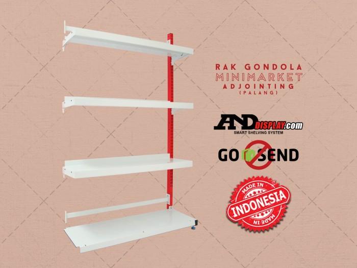 harga Rak minimarket adjoint single palang t.150cm s.25cm gondola warung Tokopedia.com