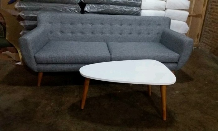 Jual Sofa Retro Minimalis Raja Mebel Furniture Tokopedia