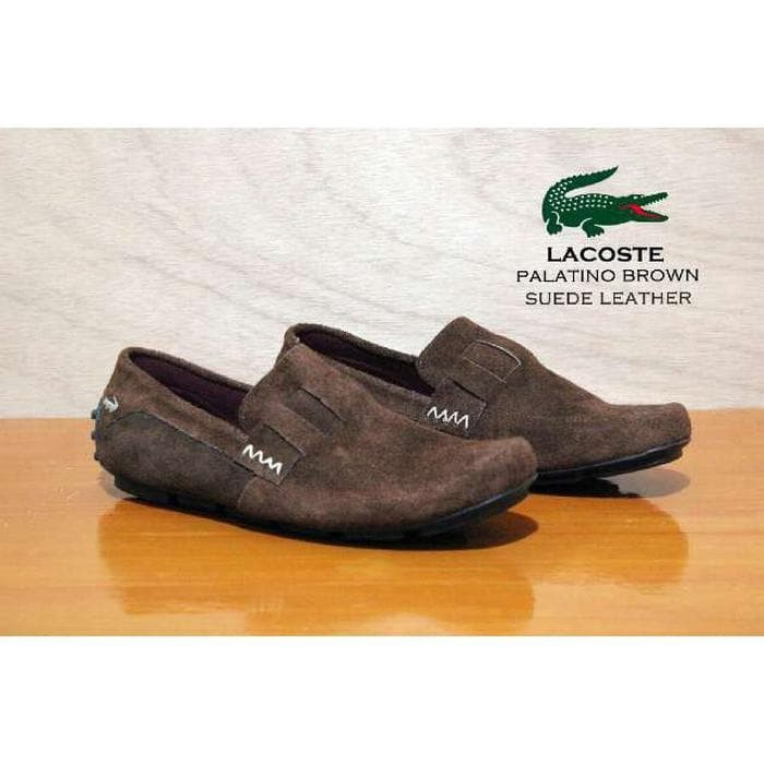 Jual sepatu slop pria lacoste kulit suede santai murah - Dunia ... ef86fb7909