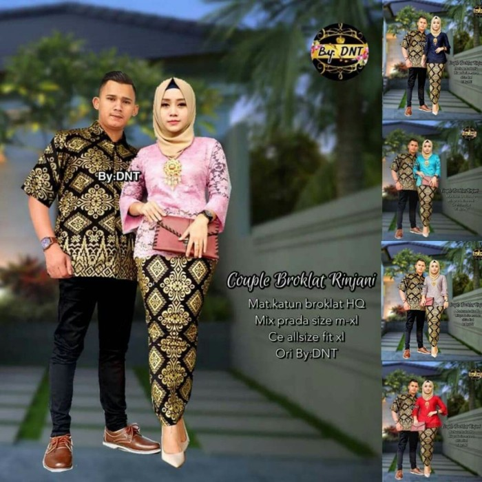 Jual kebaya couple modern   batik couple broklat rinjani - batik ... 82d04fad57