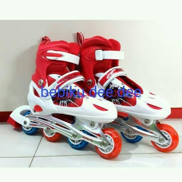 Powersport Boom Inline Skate Sepatu Roda Light Up Adjustable Wheel L ... d700874e3b