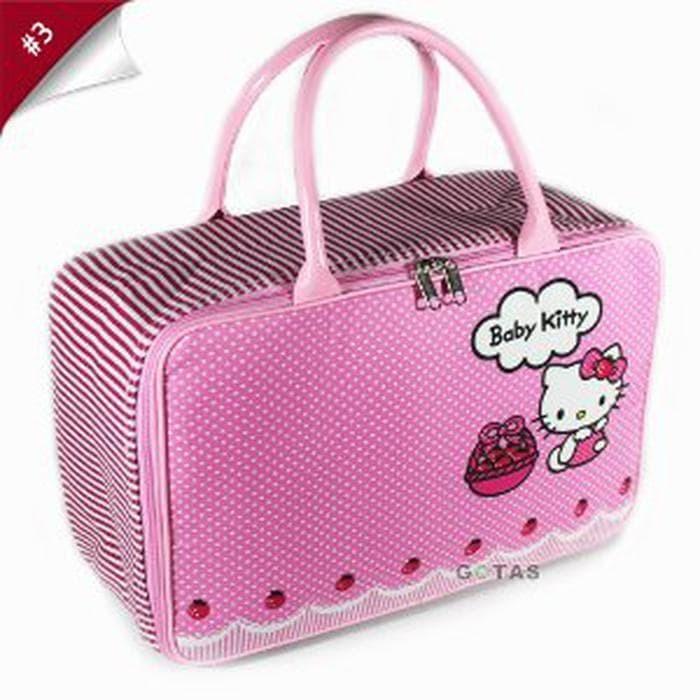 9dc2cbdeaeba Travel Bag Koper Tas Kanvas Karakter Hello Kitty Ukuran Murah. Toko dalam  status moderasi