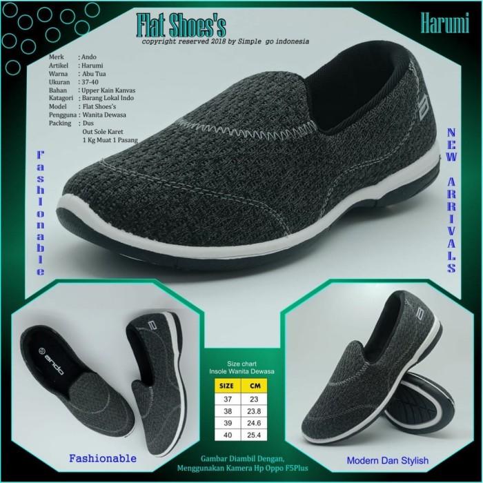 7f4595c4cd8 Sepatu flat women ando harumi 37-40