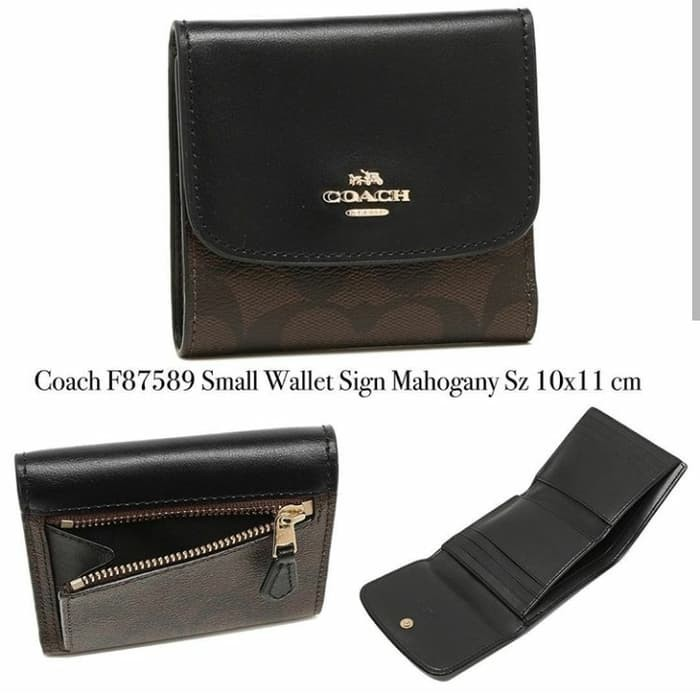 big sale 487dd 542e0 Jual COACH F87589 SMALL WALLET SIGN MAHOGANY - Kab. Sidoarjo -  Fossil_lovers | Tokopedia
