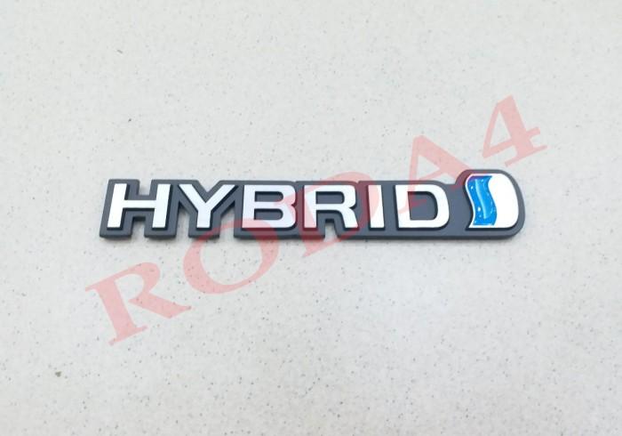 Emblem - Logo Tulisan Hybrid Besi Stainless