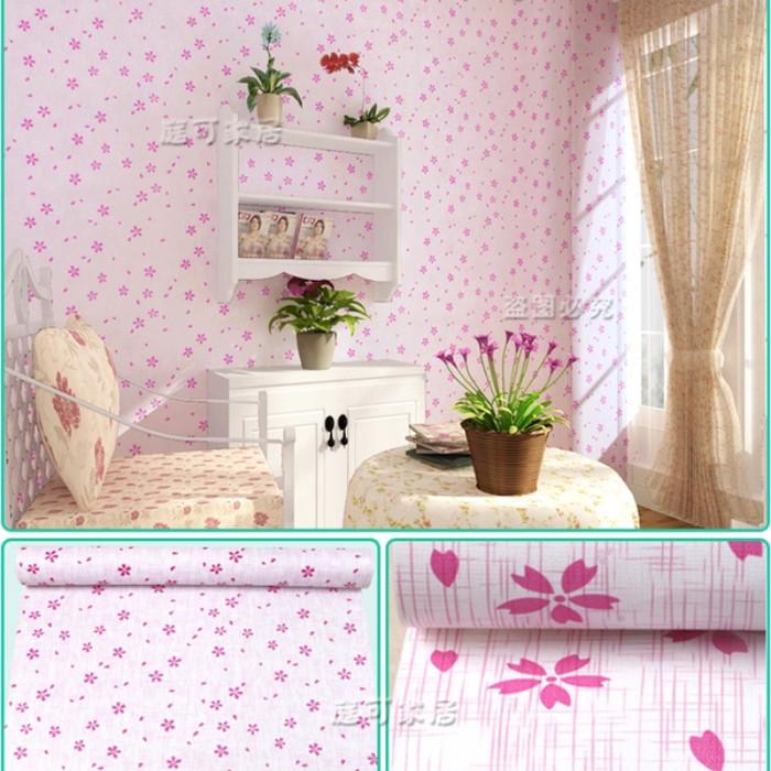 jual wallpaper sticker bunga sakura pink murah dinding shabby chic