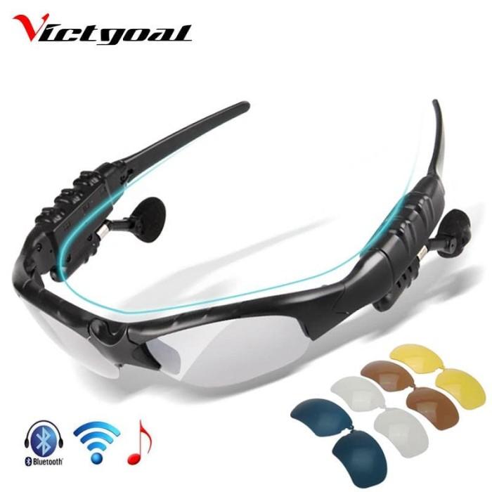 Foto Produk VICTGOAL Kacamata Polarized Earphone Bluetooth dengan 5 Lensa dari BudgetGadget
