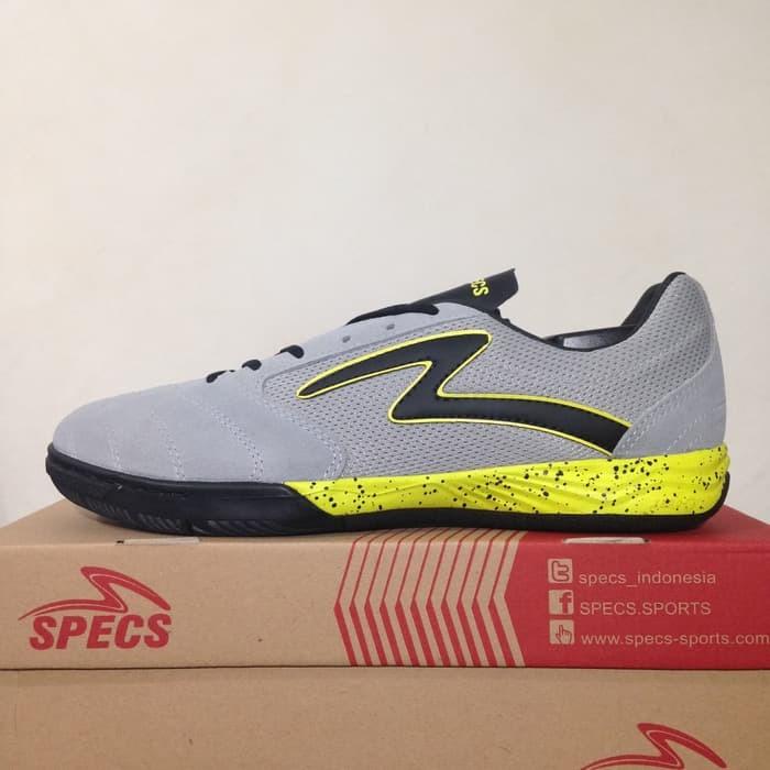 Jual Sepatu Futsal Specs Metasala Rival Palona Grey Slime Original