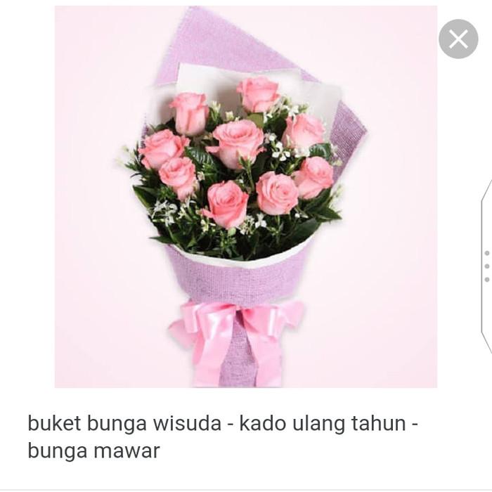 Jual Buket Bunga Biru Muda Kota Surabaya Mays Craft Tokopedia