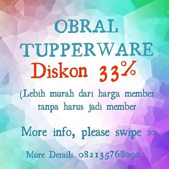Jual Diskon Tupperware 33 Persen Harga Member Tanpa Harus Jadi Member Kota Bandung Milea The Store Tokopedia