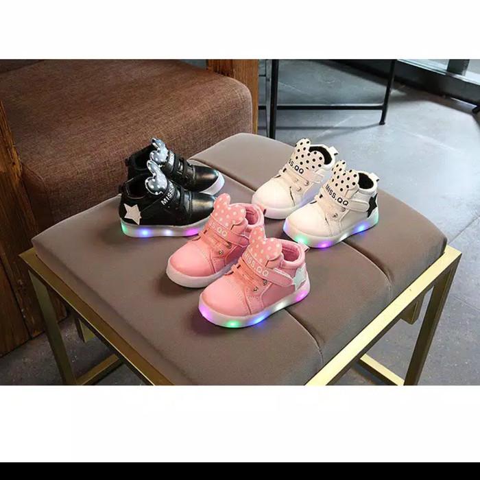 harga Sepatu lampu led 21-30 sepatu mickey polka sepatu sport anak perempuan Tokopedia.com