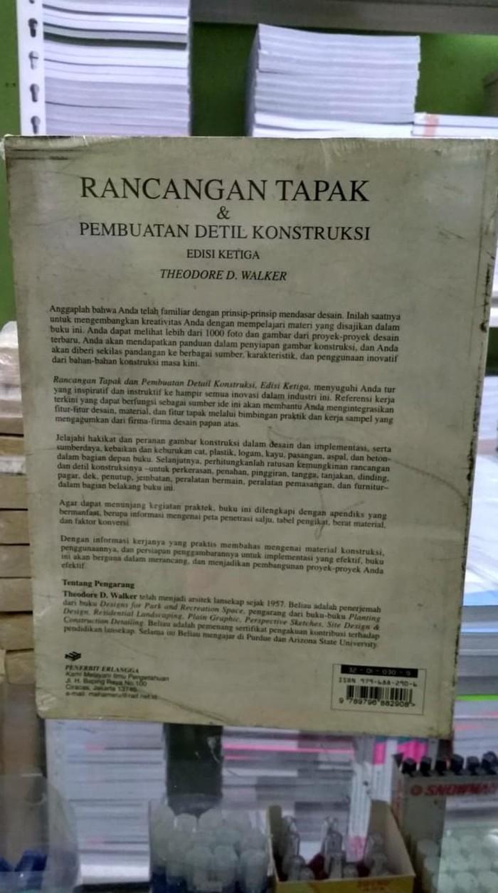 Jual ORIGINAL RANCANGAN TAPAK & PEMBUATAN DETIL KONSTRUKSI EDISI 3 ERLANGGA Kota Tangerang Selatan Asriollshopfourtynine
