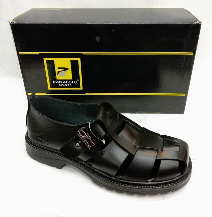 Sepatu Kulit Pakalolo Boots N08705 Hitam Sepatu Casual Pria Original - d9ed8f6a7d